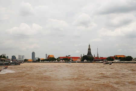 Wat arun from the Chao Praya River Bangkok Thaliand on 27 august 2011