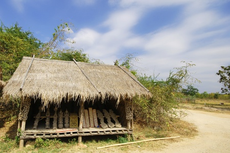 The Thai style house in garden Thailand.
