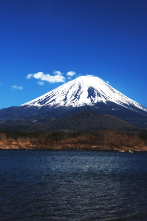 fuji san: Very Beautiful Mount Fuji at Fuji City in Japan