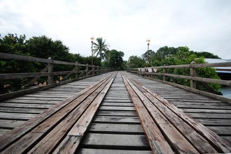 Wooden bridge in Sangkhlaburi in western Thailand