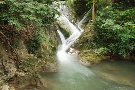 waterfall in Erawan national park  Kanchanaburi Thailand Stock Photo - 13450816