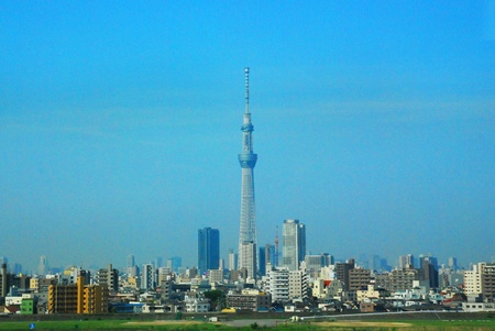 The Tokyo Sky tree in the Tokyo city Japan