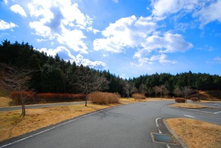 fuji san: The road on Fuji san in Shizuoka city Japan