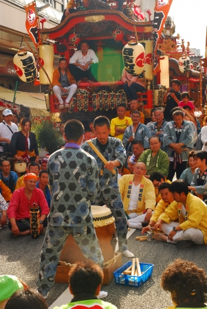 Matsuri is traditional most famous festival on June 09, 2012 in Shizuoka, Japan