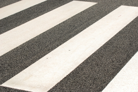 The zebra pedestrian road crossing walking in Japan photo