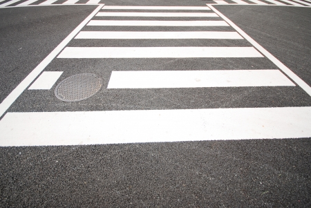 The pedestrian crosswalk in the city Japan photo