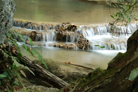 The deep forest waterfall in the Thailand Stock Photo - 14100019