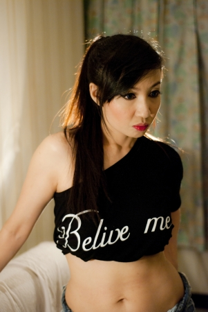 philippine adult: The Asian beautiful woman in the room Stock Photo