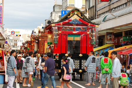Matsuri is traditional most famous festival on June 10, 2012 in Shizuoka, Japan
