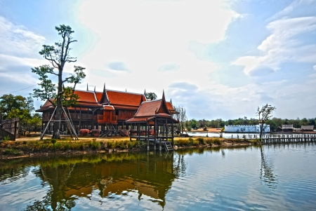 Traditional Thai wooden house Thai style house  Stock Photo - 14145517