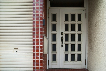 The door enter outside of the house Stock Photo - 14535951