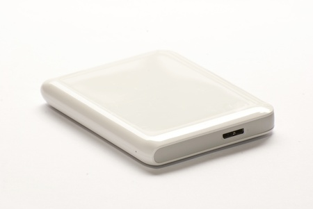 External hard disk drive on white background Stock Photo - 14535945