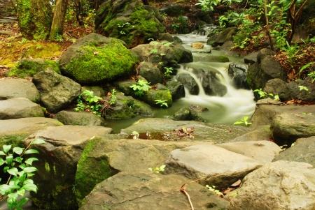 The beautiful waterfall in Fuji city Japan Stock Photo - 14604779