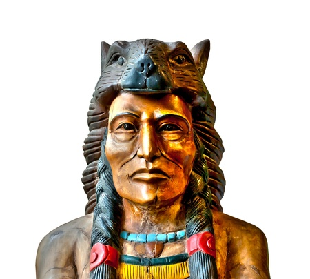 American native indian statue in the Thailand photo
