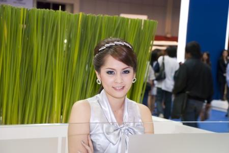 BANGKOK, THAILAND Mar 29: Pretty Girl at the booth in THE THAILAND INTERNATIONAL MOTOR EXPO 2009 on Mar 29, 2009 in Bangkok, Thailand. Editorial