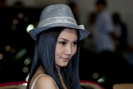 BANGKOK, THAILAND Mar 29  Pretty Girl at the booth in THE THAILAND INTERNATIONAL MOTOR EXPO 2009 on Mar 29, 2009 in Bangkok, Thailand