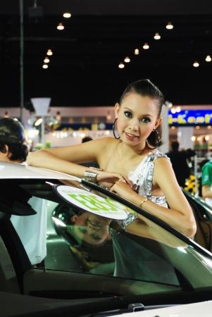 BANGKOK, THAILAND – Mar 29: Pretty Girl at the booth in THE THAILAND INTERNATIONAL MOTOR EXPO 2009 on Mar 29, 2009 in Bangkok, Thailand. Editorial