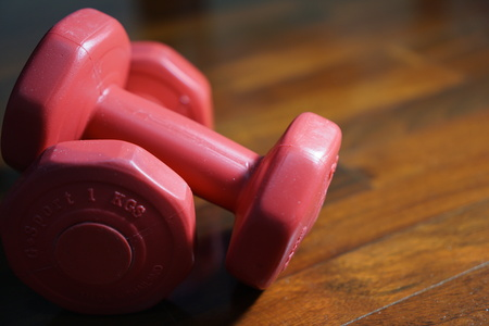 tired person: Hot Pink Dumbbells