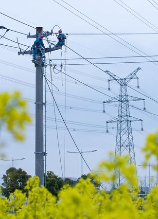 Electric power maintenance Imagens