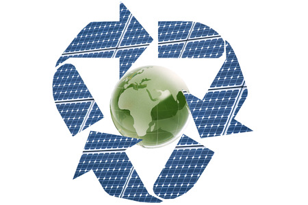 Recycled,Photovoltaic,solar photo
