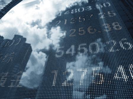 bursatil: Visualización de las cotizaciones del mercado de valores Foto de archivo