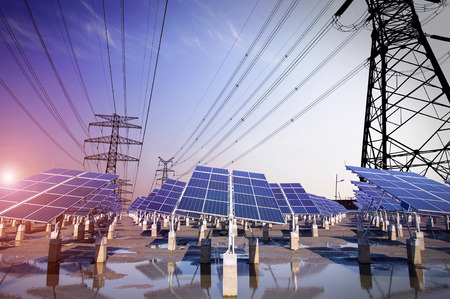 Photovoltaic solar and power tower  Imagens