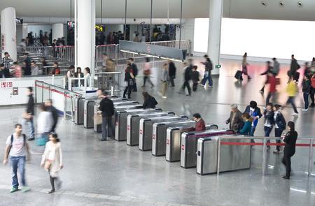 subway exit in shang hai, china