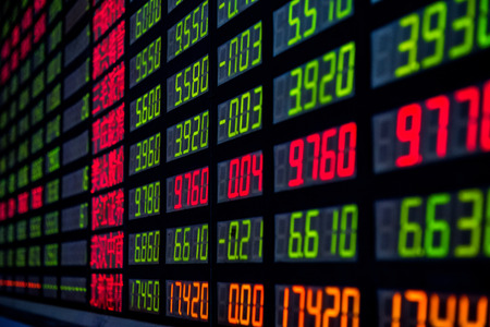 Display of Stock market quotes in China  photo