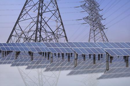 green fuel: Power plant using renewable solar energy
