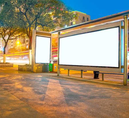 Modern city advertising light boxes Imagens