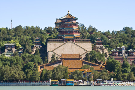the summer palace: Summer Palace in Beijing Stock Photo
