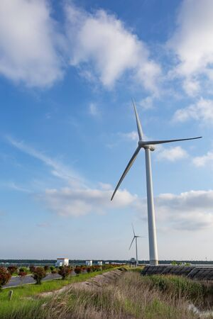 Windmills for electric power production on empty farms