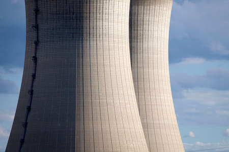npp: Cooling tower of a NPP in detail Stock Photo