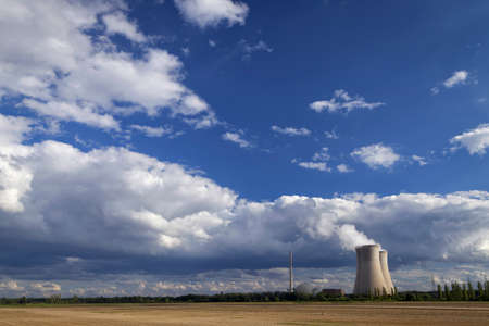npp: Cooling towers with bright sky