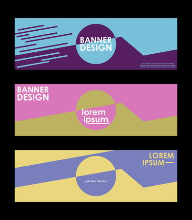 Minimal banner design. Colorful halftone gradient. Future geometric patterns. very suitable for your work project. Illustration