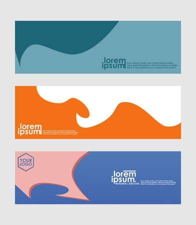 Minimal banner design. Colorful halftone gradient. Future geometric patterns. very suitable for your work project. Çizim