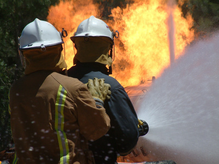 bush fire: Dynamic Duo Fight flames during this bush fire after a spot fire gets out of control. Featuring emergency crew and fire fighters
