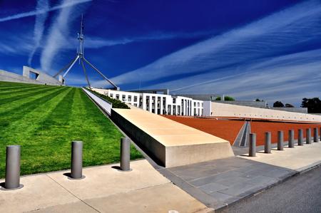Parliament House Canberra Australia Stock Photo