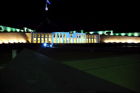 canberra: Parliament House Canberra at Night