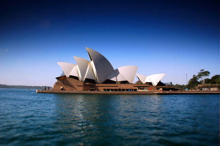 tilt: Sydney Opera House Heavily Polarised and tilt shift focus to create narrow depth of field