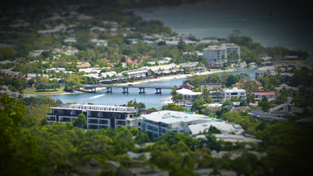 aerial photograph: Stock Miniature aerial photograph picture image of Noosa Sound and Witta Circle