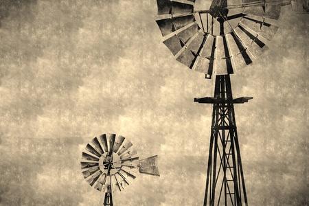 salinity: Australian Windmill on Rural Farm