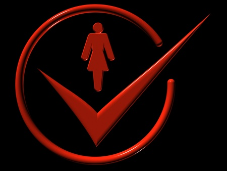 Image of woman, web-icons,  mark, 3d render Stock Photo - 9276276