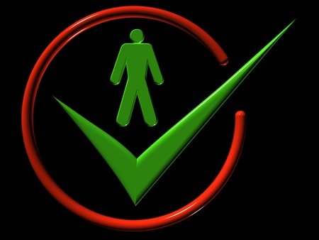 Image of man, web-icons,  mark, 3d render Stock Photo - 9276289