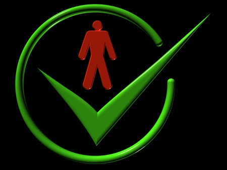 Image of man, web-icons,  mark, 3d render Stock Photo - 9276316
