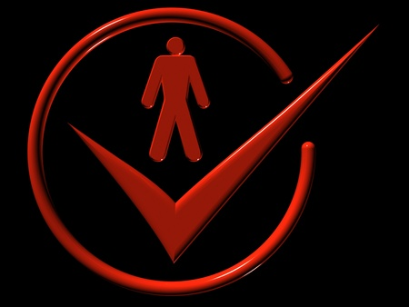 Image of man, web-icons,  mark, 3d render Stock Photo