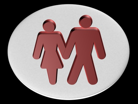 Image of man and a woman, 3d render