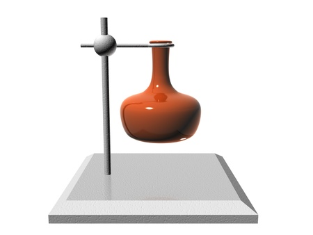 3d illustration, made in 3d max. Conceptual symbol. Lesson, chemistry, experiment Stock Photo