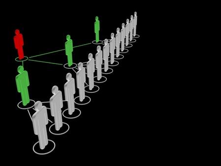 3d illustration, made in 3d max. Conceptual symbol. Teamwork