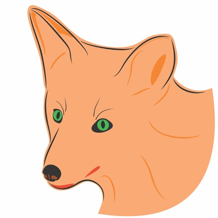 thoughtfulness: An a vector illustration of fox   Files included  Illustrator 8 EPS  and JPG  Illustration